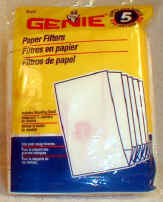 Genie Shop Vac Paper Filter Part #27412R