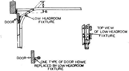 Garage Doors Garage Door Opener Part Low Headroom Kit Universal Garage Door  Part For All Garage Doors